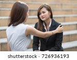 dramatic moment of woman... | Shutterstock . vector #726936193
