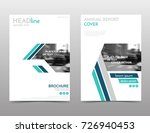 white and blue brochure design  ... | Shutterstock .eps vector #726940453