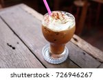 ice mocha coffee. iced coffee... | Shutterstock . vector #726946267