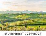 rural morning landscape with...   Shutterstock . vector #726948727