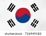 national flag of south korea... | Shutterstock . vector #726949183