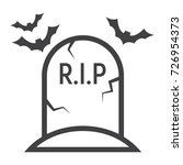 tombstone line icon  halloween... | Shutterstock .eps vector #726954373