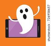 halloween ghost  notification... | Shutterstock .eps vector #726958657