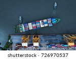 container ship in import export ... | Shutterstock . vector #726970537