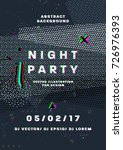 night party poster. 80s disco... | Shutterstock .eps vector #726976393