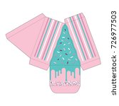 decorated cake slice box cutout ...   Shutterstock .eps vector #726977503
