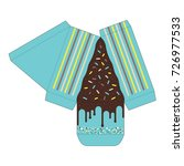 decorated cake slice box cutout ...   Shutterstock .eps vector #726977533