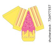 decorated cake slice box cutout ...   Shutterstock .eps vector #726977557