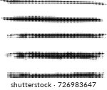 halftone dots in linear form.... | Shutterstock .eps vector #726983647