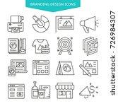 branding design icons set | Shutterstock .eps vector #726984307