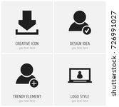 set of 4 editable web icons....