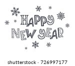 happy ney year postcard... | Shutterstock . vector #726997177
