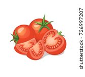fresh and ripe tomatos isolated ... | Shutterstock .eps vector #726997207