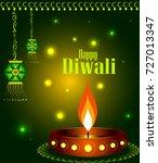 happy diwali background | Shutterstock .eps vector #727013347