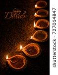happy diwali greeting card...   Shutterstock . vector #727014847