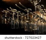 wine glass hanger. | Shutterstock . vector #727023427