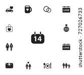 set of 13 editable love icons....