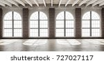 large empty room in loft style... | Shutterstock . vector #727027117