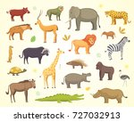 african animals cartoon set.... | Shutterstock . vector #727032913
