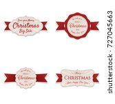 christmas banners with red... | Shutterstock .eps vector #727045663