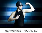 proffesional swimmer showing... | Shutterstock . vector #72704716