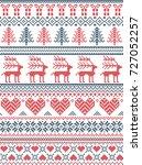 scandinavian  nordic style... | Shutterstock .eps vector #727052257