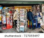 paris  france   oct 3  2017 ... | Shutterstock . vector #727055497