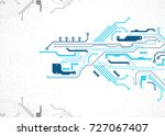 vector illustration  hi tech... | Shutterstock .eps vector #727067407