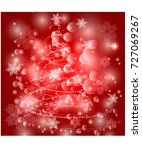 red christmas background with... | Shutterstock .eps vector #727069267