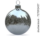 christmas ball decoration white ... | Shutterstock . vector #727092457