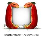 jack o lantern sign pumpkin... | Shutterstock . vector #727093243