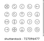 flat vector icons with a thin... | Shutterstock .eps vector #727096477