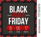 abstract vector black friday...   Shutterstock .eps vector #727101073