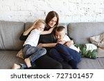 portrait of happy young... | Shutterstock . vector #727101457