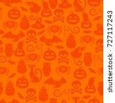 halloween symbols seamless... | Shutterstock .eps vector #727117243