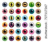 fantasy contact lenses set... | Shutterstock .eps vector #727117267