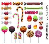 halloween sweet treats set.... | Shutterstock .eps vector #727117297