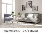 idea of white minimalist room... | Shutterstock . vector #727118983
