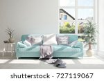 idea of white room with sofa... | Shutterstock . vector #727119067