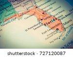 florida map | Shutterstock . vector #727120087