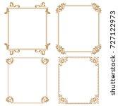 decorative line art frames for... | Shutterstock . vector #727122973