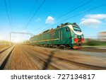 locomotive electric with a... | Shutterstock . vector #727134817