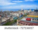old town of havana   september... | Shutterstock . vector #727136017