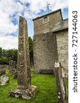 Stock photo st cuthbert s church bewcastle cumbria england site of the th century bewcastle anglo saxon 727144063