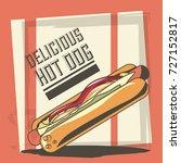 hot dog design | Shutterstock .eps vector #727152817
