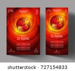 night club party flyer or... | Shutterstock .eps vector #727154833