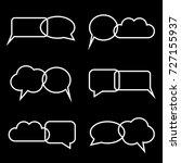 group of empty black speech... | Shutterstock .eps vector #727155937