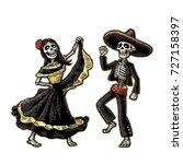 day of the dead  dia de los... | Shutterstock .eps vector #727158397