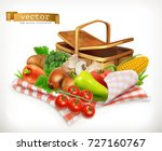 farm and harvest  realistic... | Shutterstock .eps vector #727160767