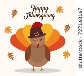 happy thanksgiving design   Shutterstock .eps vector #727163167